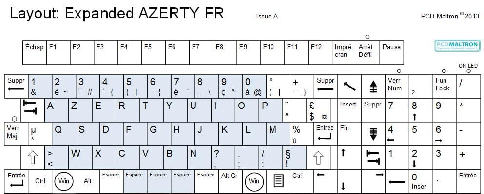 French Expanded keyboard - AZERTY